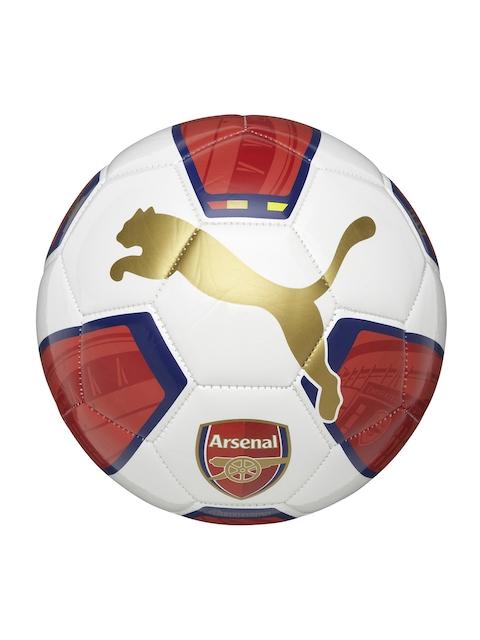 PUMA Unisex White & Red Arsenal Fanwear Football