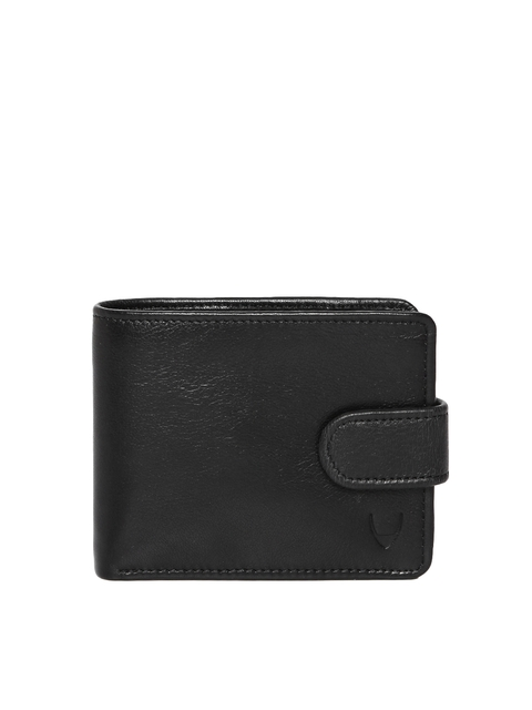 Hidesign Men Black Solid Genuine Leather Two Fold Wallet