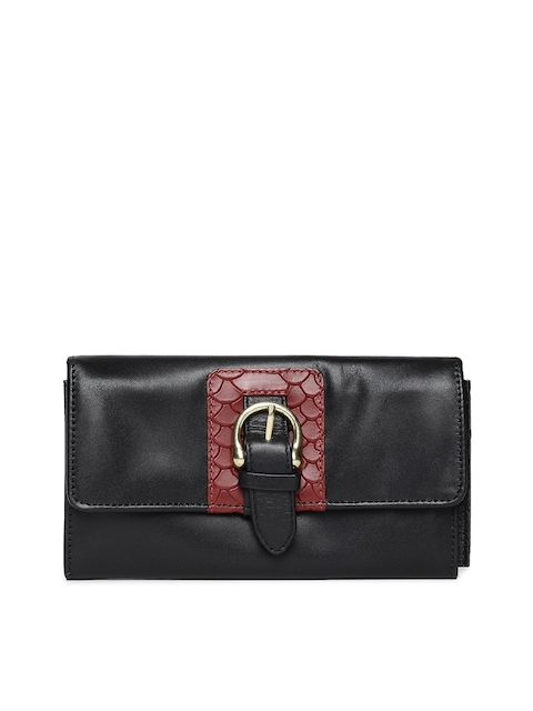Hidesign Women Black Solid Leather Two Fold Wallet