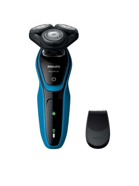 Philips Men Black & Blue AquaTouch Wet & Dry Electric Shaver S5050/06