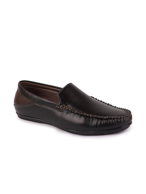 FAUSTO Men Black Loafers