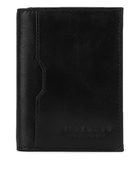 Teakwood Leathers Men Black Solid Money Clip
