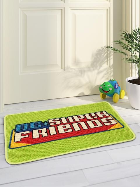 Saral Home Green Printed Anti-Slip Doormat