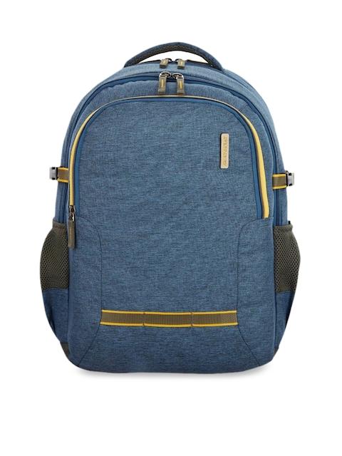 Aristocrat Unisex Blue Solid Backpack