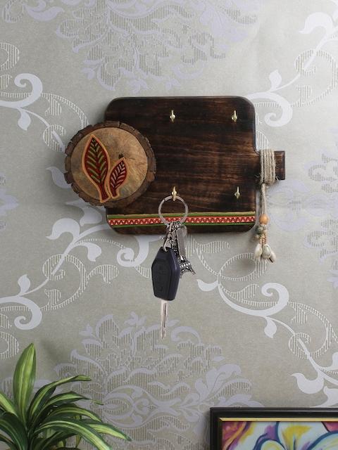 VarEesha Brown Wooden Wall Key Holder
