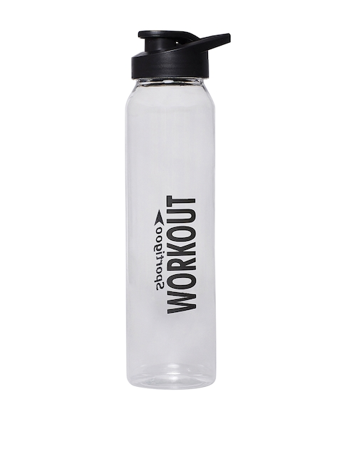 Sportigoo Unisex Transparent & Black PRO-Z Translucent Water Bottle 1 Litre