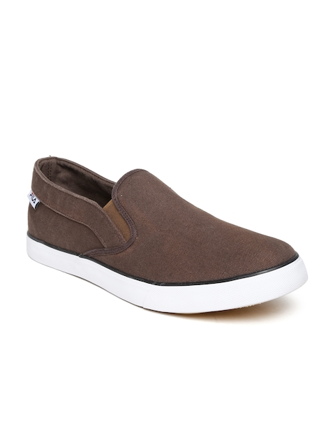 FILA Men Coffee Brown Avenzo Canvas Shoes