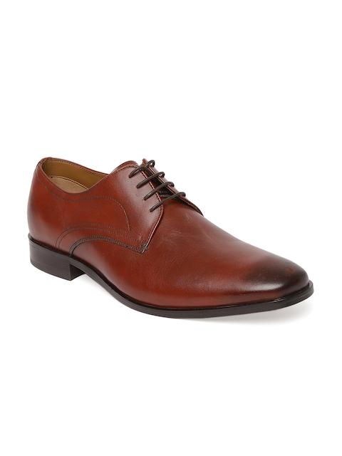 Tresmode Men Brown Formal Leather Derbys