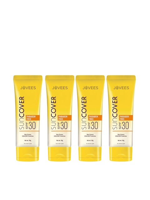 Jovees Unisex Pack of 4 Sun Cover Natural Protection SPF30 50 g