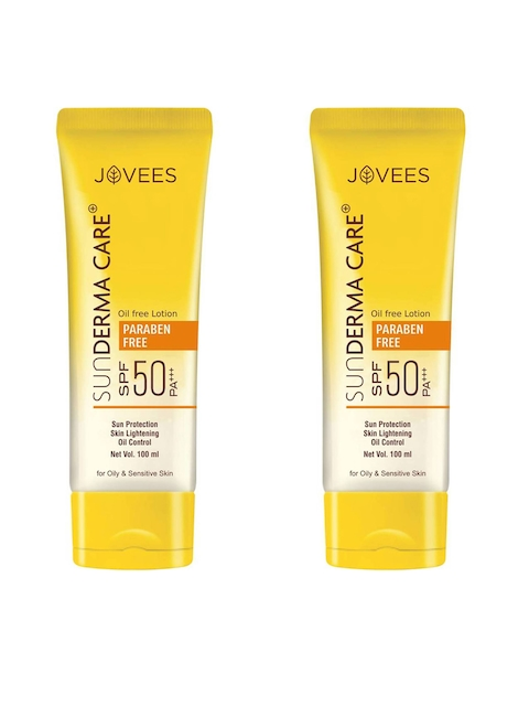 Jovees Unisex Pack of 2 Sunderma Care Oil Free Lotion Spf 60 PA+++120ml Each