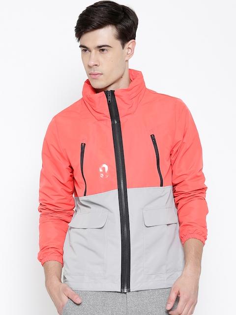 ADIDAS NEO Red & Grey M PCKTS WB Hooded Jacket