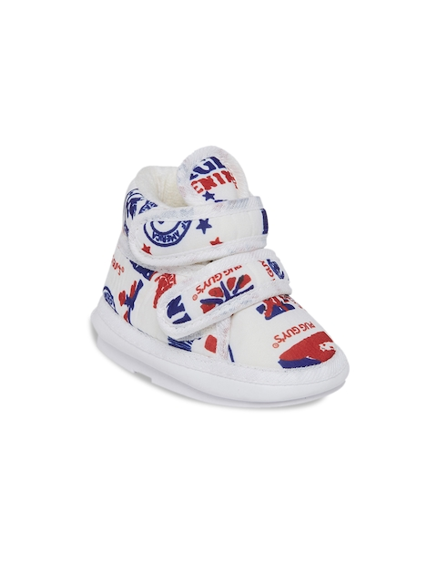 My Soul Kids White Printed Boots