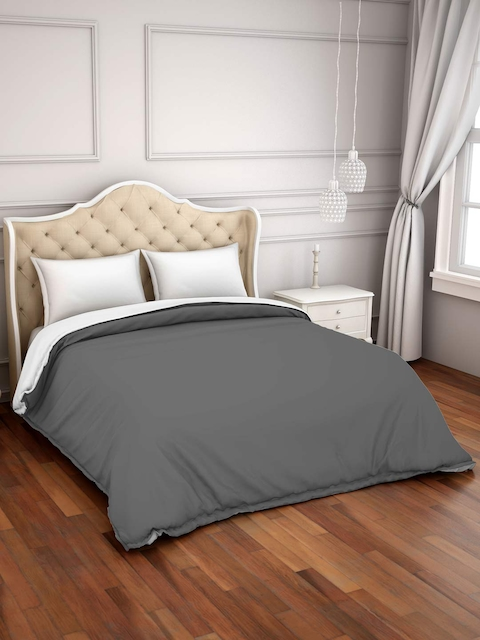 SPACES Grey 150GSM Double Bed Duvet Cover