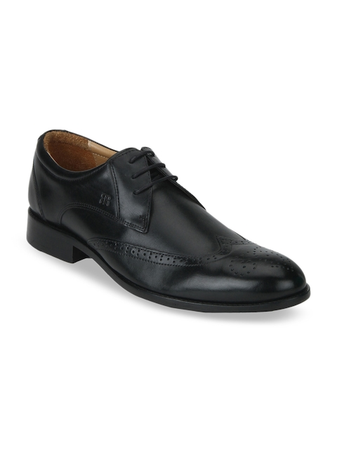 Raymond Men Black Leather Formal Brogues