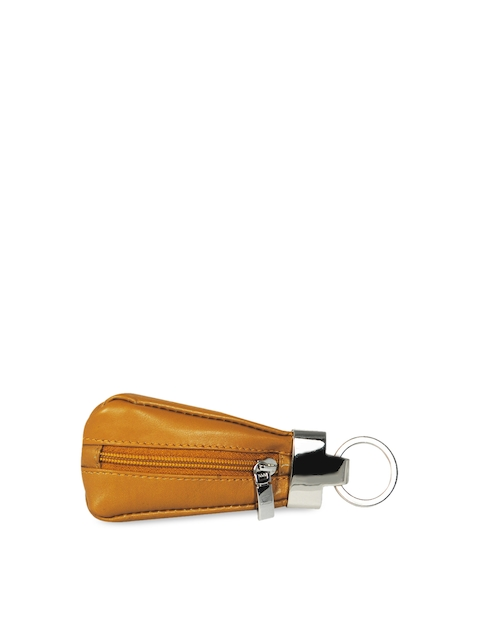 Calfnero Unisex Mustard Yellow Genuine Leather Key Case