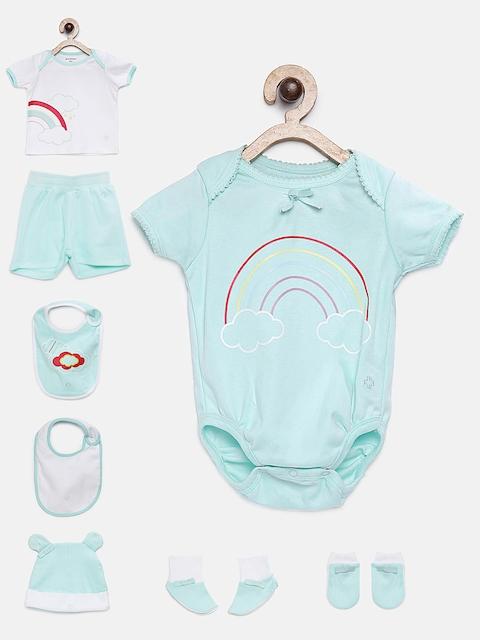 My Milestones Unisex Turquoise Blue Printed Clothing Gift Set