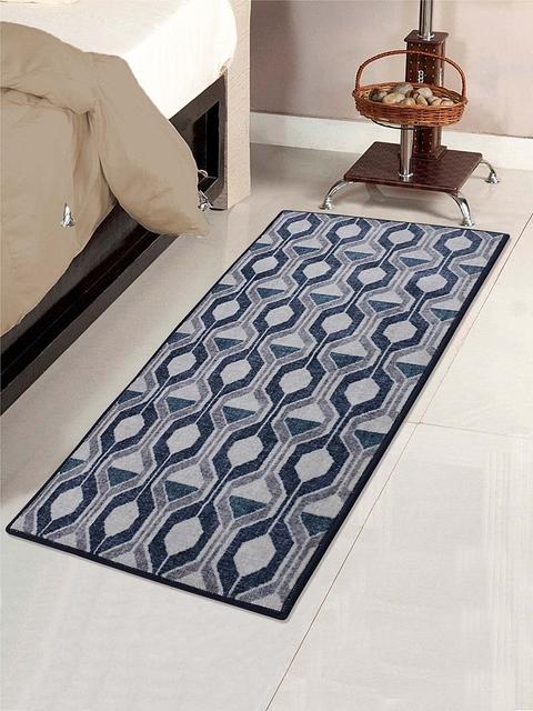 RUGSMITH Multicoloured Printed Anti-Skid Carpet