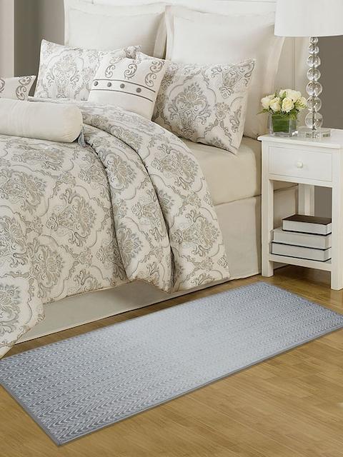 RUGSMITH Grey Printed Anti-Skid Carpet