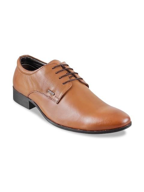 Metro Men Tan Brown Leather Formal Derbys