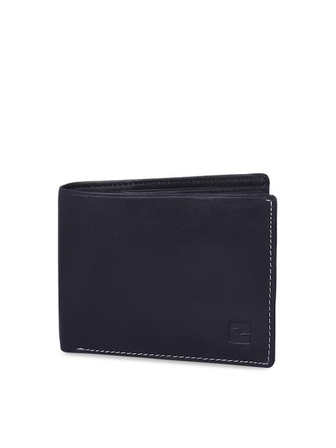 SPYKAR Men Black Solid Two Fold LeatherWallet