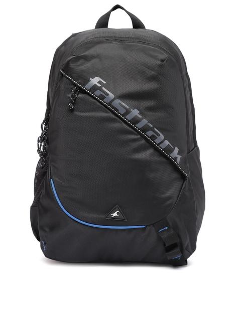 Fastrack Men Black Brand Logo Backpack
