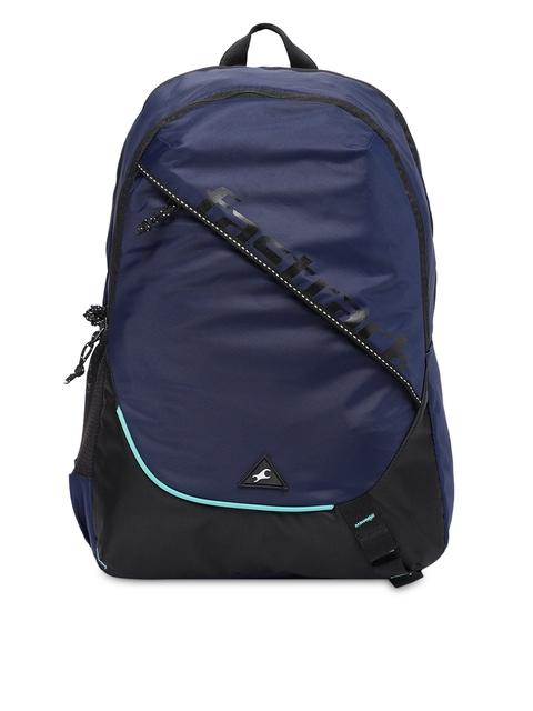 Fastrack Men Navy Blue Brand Logo Backpack