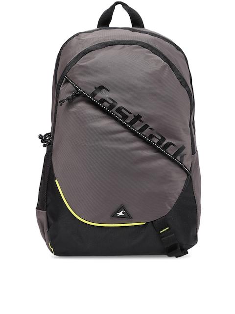 Fastrack Men Grey Brand Logo Backpack