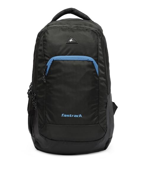 Fastrack Men Black Solid Backpack