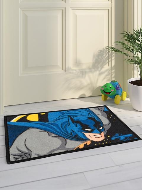 Saral Home Kids Grey Batman Printed Doormat