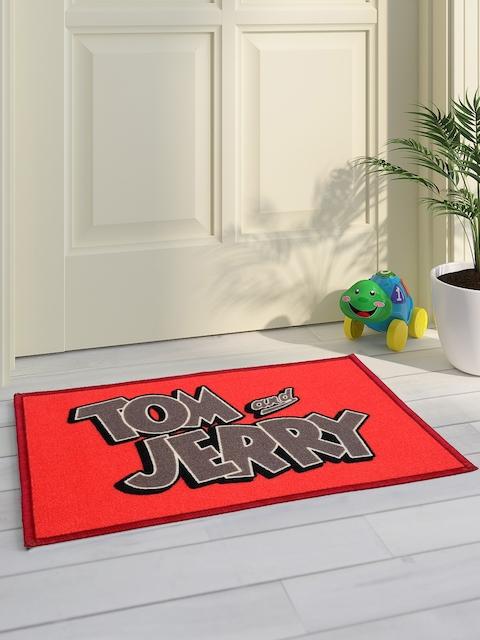 Saral Home Kids ed & Grey Tom & Jerry Printed Doormat