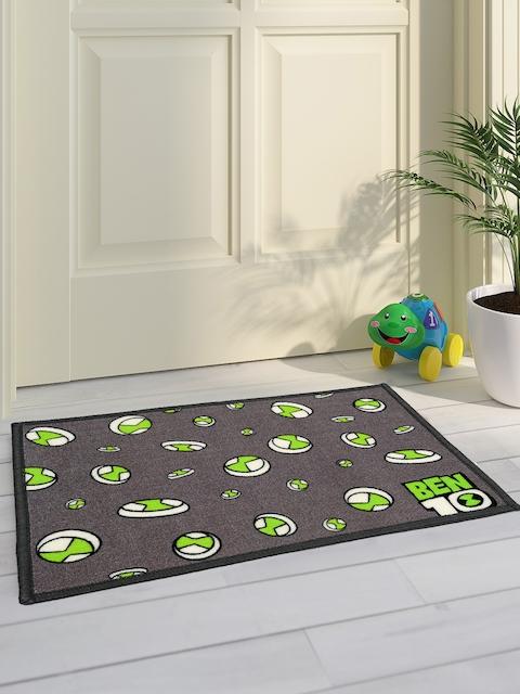 Saral Home Kids Grey & Green Ben 10 Printed Doormat