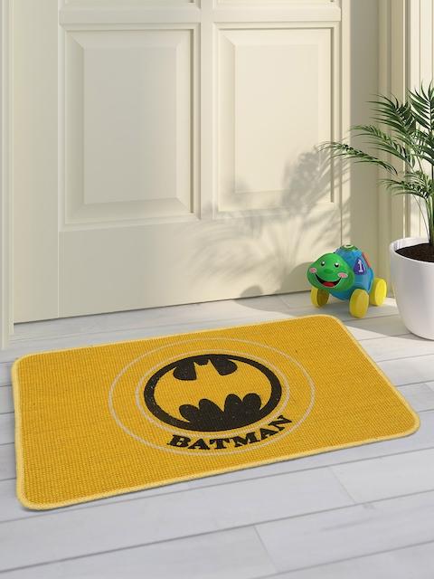 Saral Home Kids Yellow Batman Printed Doormat