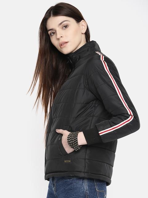 Roadster Women Black Solid Jacket