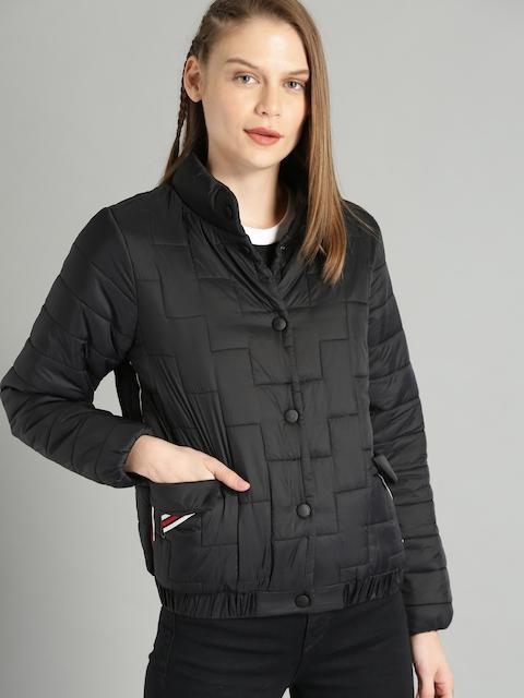 Roadster Women Black Solid Puffer Jacket