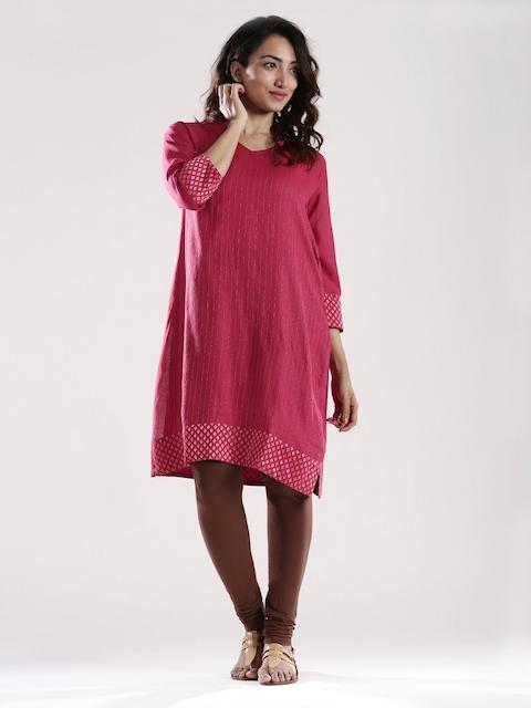 Fabindia Red Silk Kurta