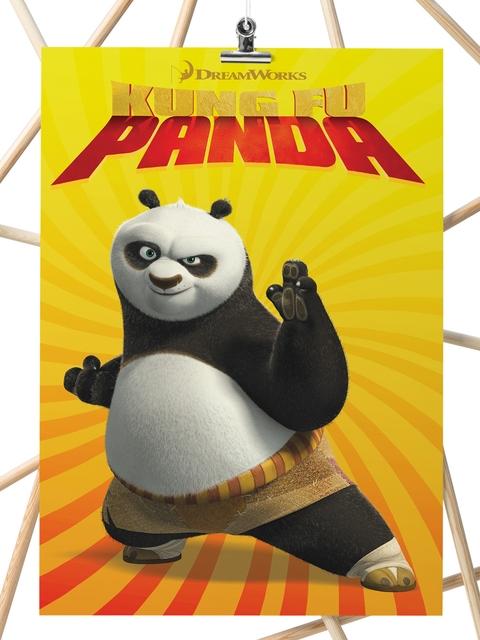 inkFlap.com Yellow Kung Fu Panda Digital Print Wall Art