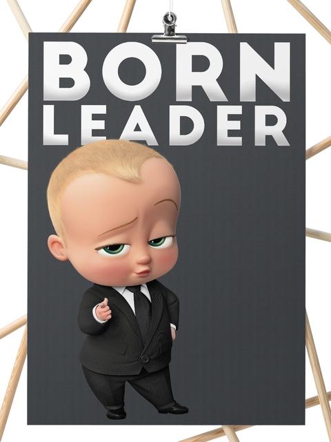 inkFlap.com Black Boss Baby Digital Print Wall Art