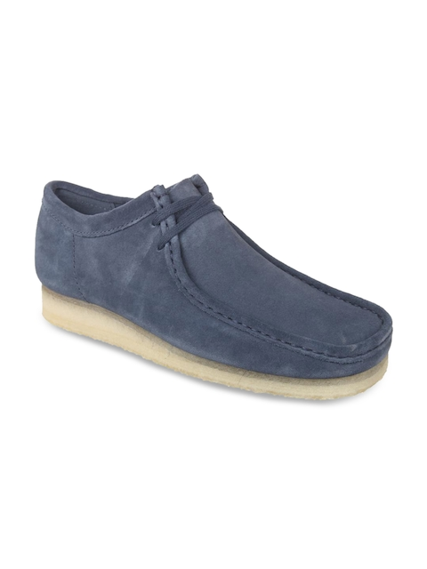 Clarks Men Blue Loafers