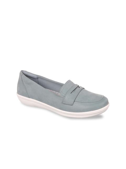 Clarks Women Blue Loafers