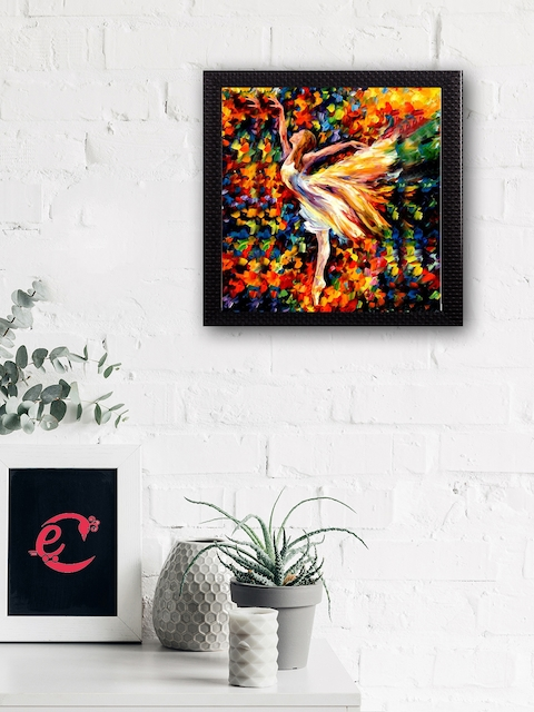 eCraftIndia Multicoloured Beautiful Angel Matt Texture UV Art Painting
