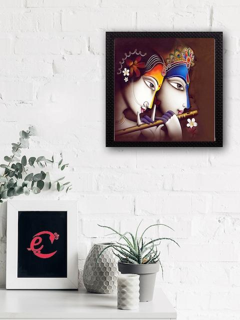 eCraftIndia Multicoloured Radha Krishna Matt Texture UV Art Painting