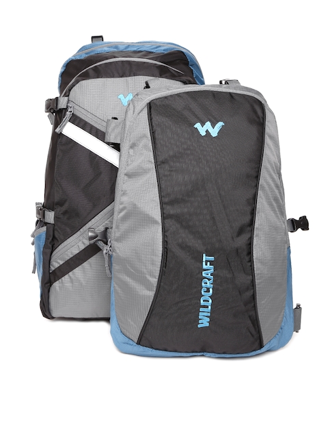 Wildcraft Unisex Black & Grey Colourblocked Rucksack with Backpack
