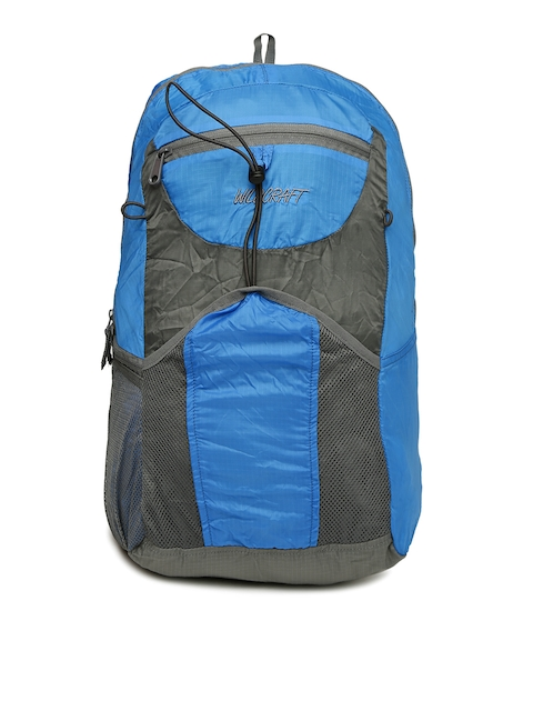 Wildcraft Unisex Blue & Grey Pac n Go Summitpack Colourblocked Backpack
