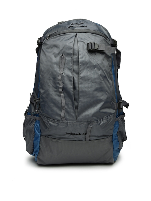 Wildcraft Unisex Grey & Blue Techpack 45 Rucksack