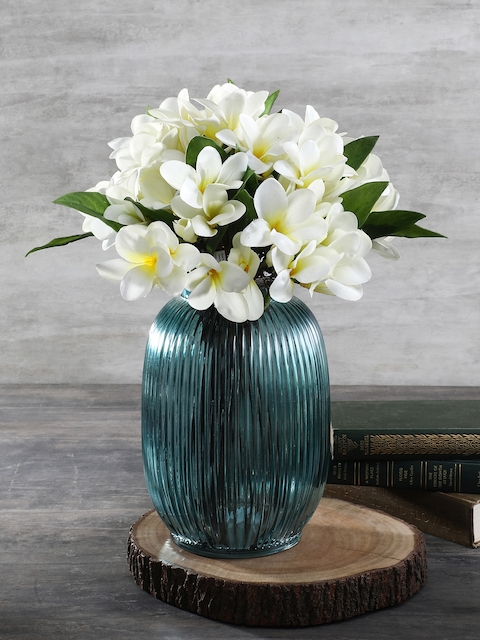 Pure Home and Living Blue Glass Flower Vase