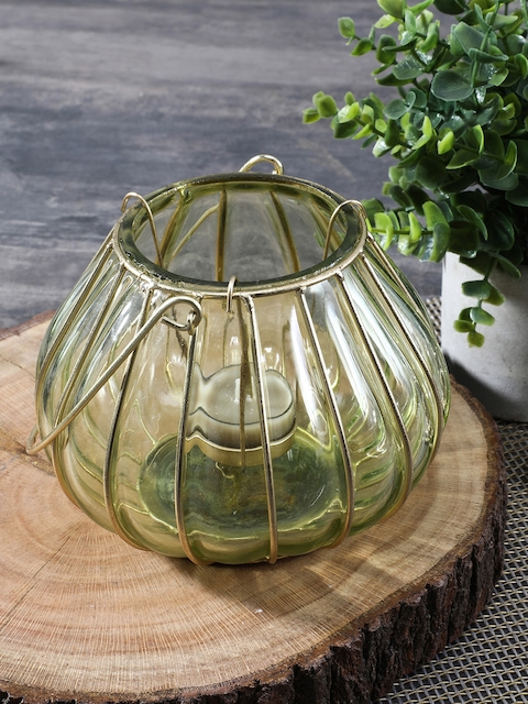 Pure Home and Living Green Dome Shaped Glass Lantern