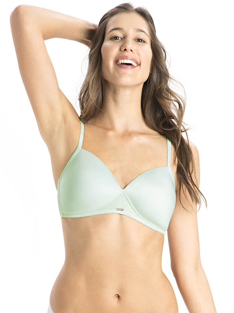 Jockey Mint Green Wire-Free Plunge Bra 2103 0105