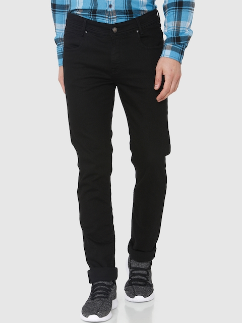 Mufti Men Black Relaxed Fit Mid-Rise Clean Look Stretchable Jeans