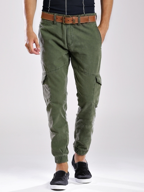 Tommy Hilfiger Olive Green Slim Cargo Trousers