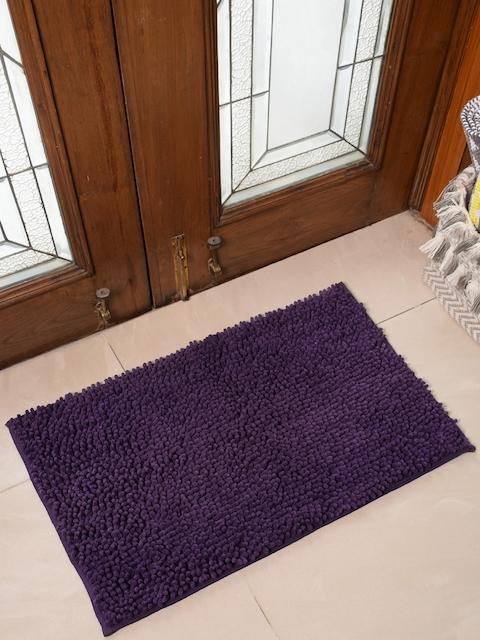 Avira Home Purple Solid 1600GSM Microfiber Chennile Doormat